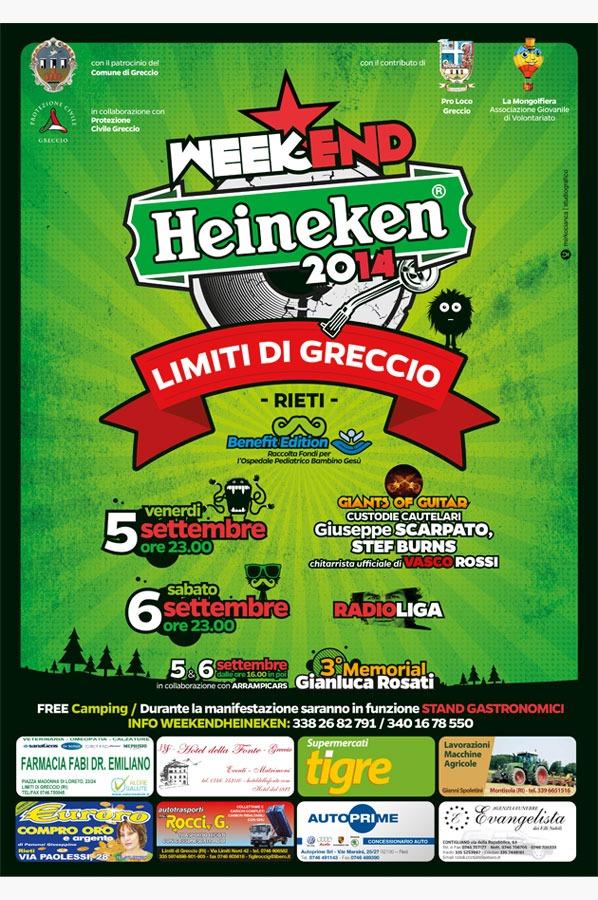 poster weekend heineken greccio 2014