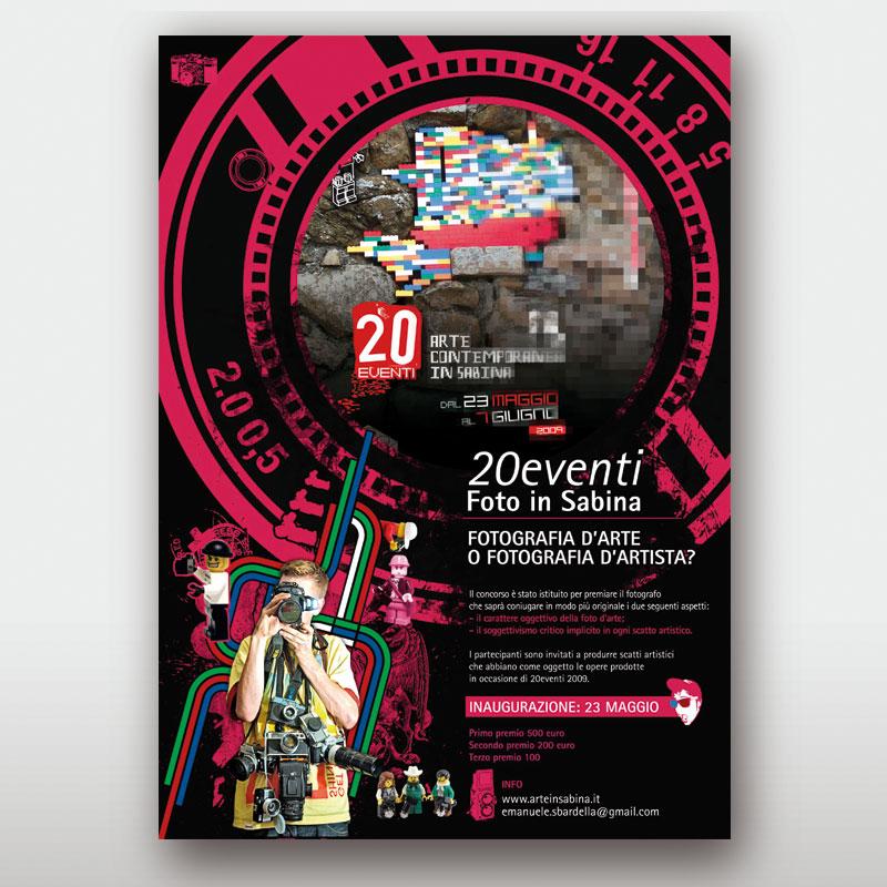 locandina concorso 20 eventi