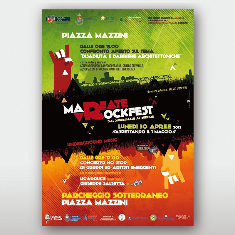 poster 70x100 Mareate Rock 2012