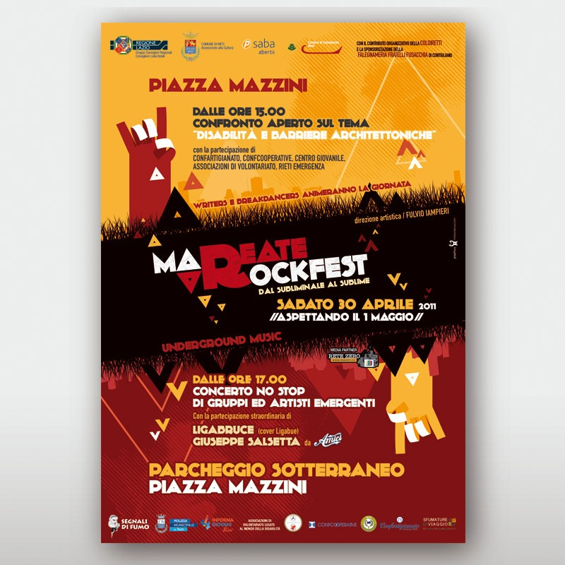 poster 70x100 Mareate Rock 2011