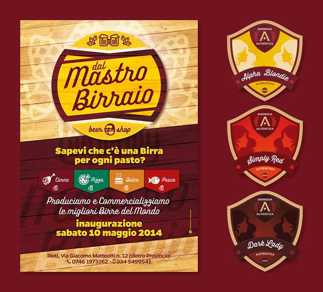 flyer ed etichette mastro birraglio